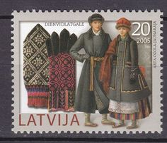 LATVIA-2005-MNH-SC-629-Traditional-Costumes-Mittens