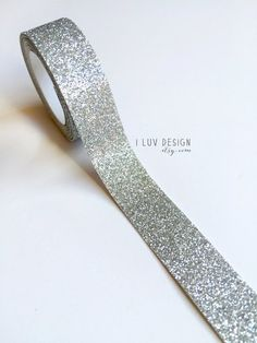Glitter Tape Sterling Silver This glitter tape is a great way to add sparkle and detail to gift wrapping, party decor, scrapbooking, card making and other DIY paper craft projects. This ta All Paper, Silver Glitter, Craft Projects, Craft Ideas, Cuff Bracelets, Card Making, Paper Crafts, Wedding Rings, Engagement Rings