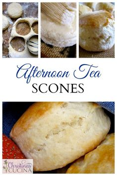 Classic afternoon tea scones, served with jam and cream! So wonderful!!