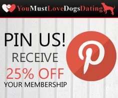 Repin us to receive 25% off your membership at www.youmustlovedogsdating.com! Use code greatdane