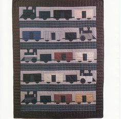 Trains Quilt New Pattern by Red Wagon by CraftersCreek on Etsy, $5.75