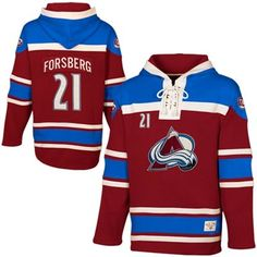 32e0a346be7 Old Time Hockey Peter Forsberg Colorado Avalanche Alumni Player Hoodie -  Burgundy Peter Forsberg