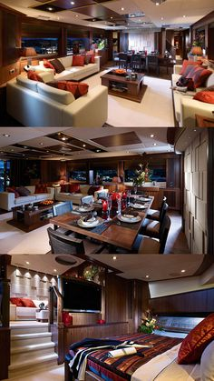 Interior of Luxury Yacht