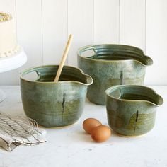 Stone nesting bowls for the kitchen.  From Uncommon Goods.  #sponsored