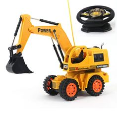 Baby toys 5Ch large Remote control engineering truck excavator car boy toys rc car electric bulldozer kids toy gifts 8 years old