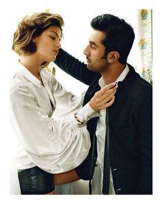 Isabeli Fontana & Ranbir Kapoor by Marc Hom for Vogue India