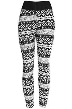KMystic Women's Winter Plush Lined Winter Leggings (Large...