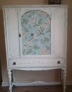 Beautiful China Cabinet painted in Annie by TheblueCanaryPainted