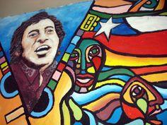 """Víctor Jara """"El hombre es un creador"""". Vivan los trabajadores y trabajadoras  del mundo."""