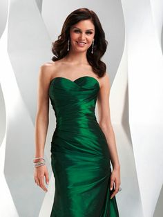 P4759 Flirt by Maggie Sottero Evening Gowns :: emerald green bridesmaids dress (also in red & royal blue)