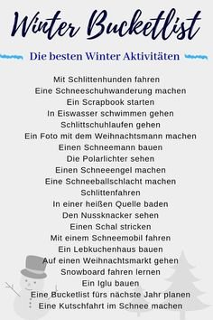 Winter Bucket List The best ideas for the perfect winter .- Winter Bucket List ❄ Die besten Ideen für den perfekten Winter 2019 Winter Bucketlist: Get the most out of this winter with these winter bucketlist ideas. Winter Girl, Winter House, Baby Winter, Herbst Bucket List, Baby Shower Quotes, Winter Quotes, Things To Do, Good Things, Winter Wallpaper