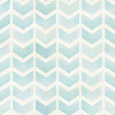 Faded Blue Chevron Removable Wallpaper 8 Feet by WallsNeedLove