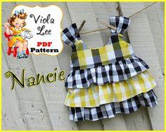 Ruffle Top Pattern Girl's Top Pattern cute by ViolaLeePatterns, $7.00
