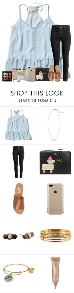 """""""reputation"""" by classyandsassyabby ❤ liked on Polyvore featuring Hollister Co., Kendra Scott, H&M, Kate Spade, Steve Madden, Belkin, Alex and Ani and tarte"""