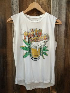 Party Time, Multi Color Muscle Tee