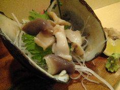 hokki shellfish sashimi(ホッキ貝刺身)