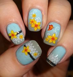 Sparkly Nails - Daffodil Dream Water Decals