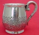 """SAINT CLOUD BY GORHAM STERLING SILVER BABY CUP DATED 1886 3 1/2"""""""
