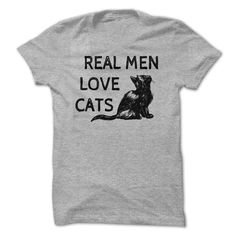 Real Men Love Cats. Funny, Cute and Clever Cat Quotes, Sayings, T-Shirts, Hoodies, Tees, Tank Tops, Coffee Mugs, Gifts