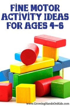 Fine motor activity ideas for ages 4-6, perfect for preschool age.