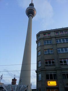 The Fernsehturm at Alexanderplatz