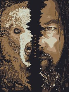 Illustrated poster inspired from The Revenant movie