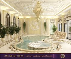 Amazing Indoor Swimming Pool For A Delightful Dip! Luxury Antonovich Design can bring joy for you! For more inspirational ideas take a look at: http://www.antonovich-design.ae/ You can give us a call!☎️ +971 50 607 2332 #antonovichdesign, #design, #interiordesign, #housedesign, #homeinterior, #furniture, #interior, #decor, #villadesign, #swimmingpool