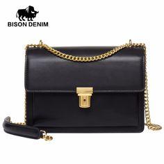 2d56802a2353 55% СКИДКА|BISON деним хит продаж женские сумки мессенджеры высокого  качества из натуральной кожи известный бренд дизайн роскошные женские сумки  на плечо ...