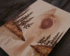 Stillness - Wood Art - Wood burning