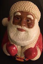 Clay Art Jolly 'Ol Soul Cookie Jar Retired - #8857 Black Americana Santa