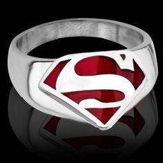 $3.20 Trendy The Avengers Superman Symbol S Ring For Men