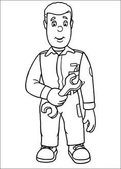 Brandweerman Sam Kleurplaten voor kinderen. Kleurplaat en afdrukken tekenen nº 17
