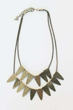 Multi-Layered Golden Scales Necklace w/ antique golden finish $18