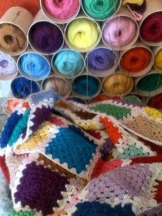 Blanket crochet granny squares