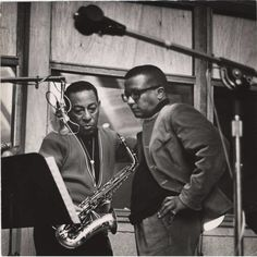 Hodges & Strayhorn in a recording studio.