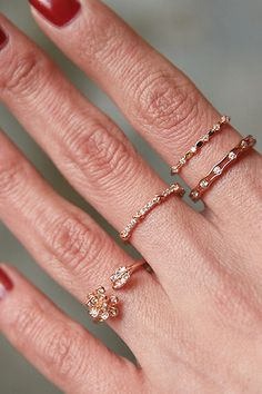CZ Rose Gold Flower Wrap Ring from kellinsilver.com