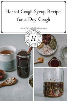 Herbal Cough Syrup, Homemade Cough Syrup, Herbal Tinctures, Herbalism, Herbal Tea, Natural Health Remedies, Herbal Remedies, Healthy Foods To Eat, Healthy Life