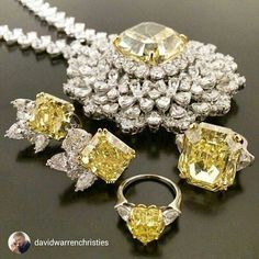 @davidwarrenchristies Look at these beautiful shades of yellow: diamonds from 5cts to 90cts each. Christies #fancyyellow #vividyellow fancy intence diamonds