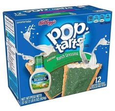 Did Kelloggs Release Ranch-Flavored Pop-Tarts? - Food Meme - Did Kelloggs Release Ranch-Flavored Pop-Tarts? The post Did Kelloggs Release Ranch-Flavored Pop-Tarts? appeared first on Gag Dad. Funny Food Memes, Food Humor, Funny Games, Stupid Funny, The Funny, Hilarious, Pop Tarts, Pop Tart Flavors, Weird Oreo Flavors