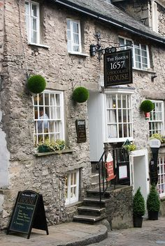 1657 Chocolate House in Kendal, Lake District, Cumbria, North West England, UK