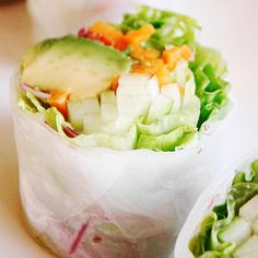 Spring rolls are another veggie-filled meal that is super easy to make. Nutritious, fresh vegetables like carrots, cucumbers, and lettuce are the stars, so grab your rice paper and check out this recipe! Source: Flickr user veganfeast