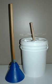 How to make a bucket washer  Never thought of this before!