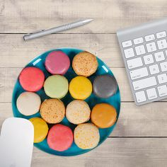Macaron Mouse Pad, French Macarons Mouse Pad, Baker's Mouse Pad (0055)