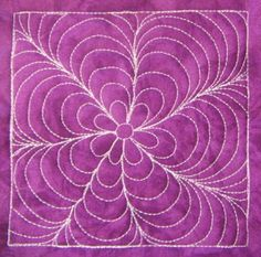 The Free Motion Quilting Project: Day 99 - Super Daisy