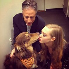 Pin for Later: Adorable Pictures of Celebrities and Their Favorite Furry Friends Amanda Seyfried