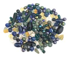 100g 5-26mm Assorted Czech Pressed Glass Bead Fall by nloiscrafts