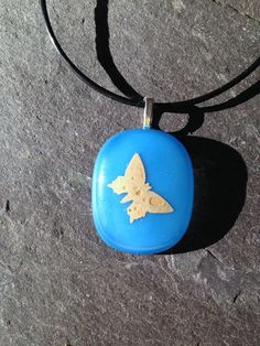 Butterfly Pendant, Gold Butterfly, Blue Necklace, Gifts for Her, Butterfly Wings, Friend Gift, Gift for Friends, Wedding Gift for Bride