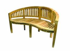 ambientehome bananen 62447 2 seater bench 120 cm wide teak by sparmeile gmbh http - Garden Furniture 4 U