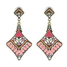 2013 New-arrived Fashion Retro Bohemian Resin Pendant Earrings[US$10.00]