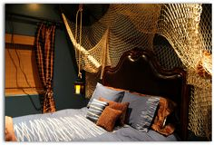 Got a kid who wants to be a pirate?  Nautical or pirate themed bedroom.